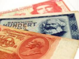 dinheiro de países comunistas foto