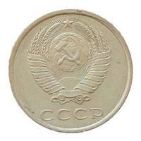 Moeda de 20 centavos de rublo, rússia foto