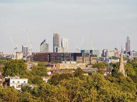 vista do horizonte de Londres foto
