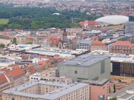 vista aérea de leipzig foto