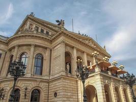 alte oper em frankfurt foto