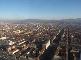 vista aérea de turin foto