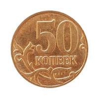 Moeda de 50 centavos de rublo, rússia foto