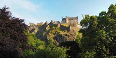 castelo de edimburgo em edimburgo, alta resolução foto