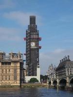 obras de conservação do big ben em Londres foto