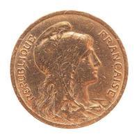 moeda francesa velha foto