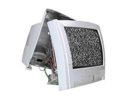 aparelho de tv quebrado com ruído estático foto