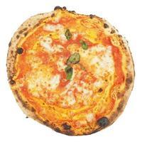 pizza margherita isolada foto