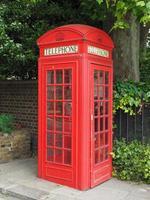 caixa de telefone vermelha em Londres foto