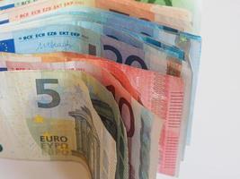 notas euro eur, união europeia eu foto