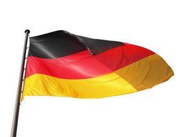 bandeira alemã isolada foto