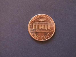 Moeda de 1 cent, estados unidos foto