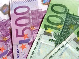notas de euro, união europeia foto