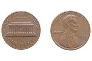 moeda de um centavo foto