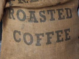 saca de café torrado foto