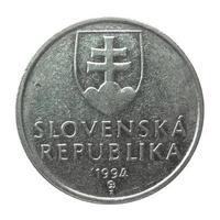 moeda eslovaca vintage foto
