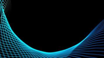 fundo de tecnologia de formulário de curva azul e verde foto