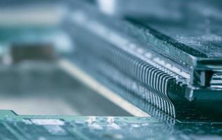 close up shot de terminais LCD na placa de circuito impresso foto