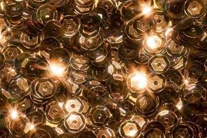 detalhe de decoração de brilho de close up foto