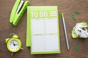 conceito de organização de tempo com visão de planejador foto