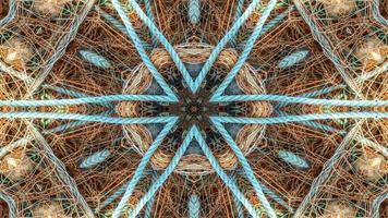 caleidoscópio de linhas de pesca de rede arrastão foto