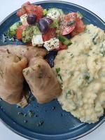 culinária tradicional grega de pornografia com comida moderna foto