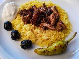 giroscópios de comida grega foto
