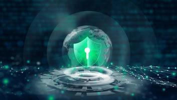 proteção de dados privacidade de segurança cibernética. proteção da privacidade da informação foto