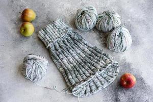 tricotar com raios como ocupação nas horas vagas e hobby foto