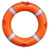 bóia salva-vidas isolada foto