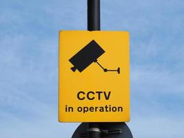 cctv em sinal de operação foto