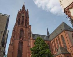 Catedral de Frankfurter Dom em Frankfurt foto