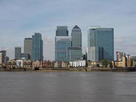 Canary Wharf em Londres foto