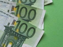 Notas de 100 euros, união europeia foto