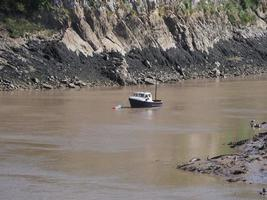 River Wye em Chepstow foto
