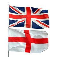 bandeira do reino unido e bandeira da inglaterra foto