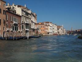 Canal Grande em Veneza foto
