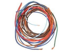 fios elétricos isolados foto
