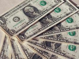 notas de dólar usd, estados unidos eua foto