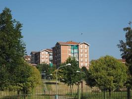 vista da cidade de settimo torinese foto