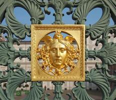 máscara dourada em turin foto