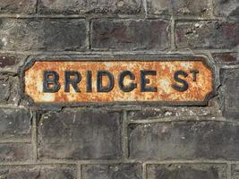 sinal de ponte stree em chepstow foto