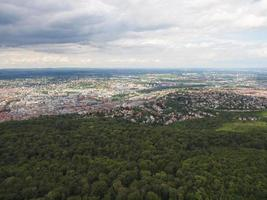 vista aérea de estugarda, alemanha foto