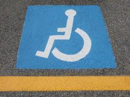 sinal de estacionamento desativado foto