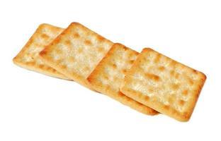 biscoito crocante com açúcar isolado no fundo branco foto