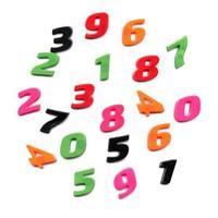números de brinquedo de plástico foto