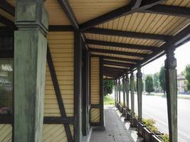 estação de bonde leumann em collegno foto