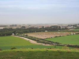 panorama do país inglês em salisbury foto
