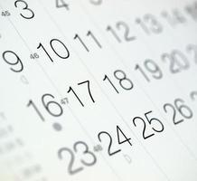 página de calendário com foco seletivo foto