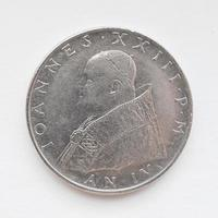 moeda de lira do Vaticano foto